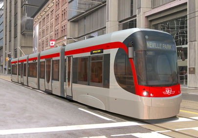 Bombardier design for new streetcars