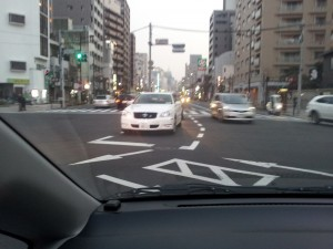 Japanese turning lane